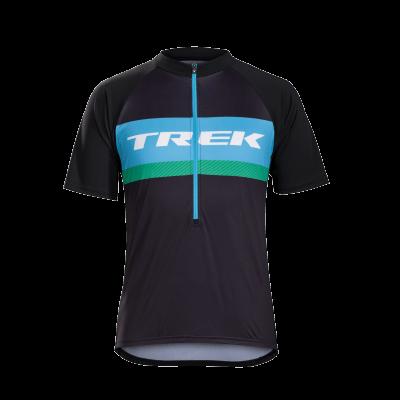 Koszulka Bontrager Solstice niebieska/zielona logo Trek