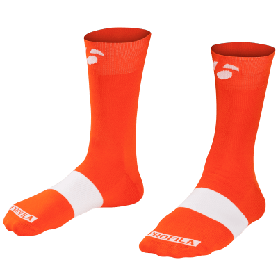 Skarpetki Bontrager Race 13 cm M (40-42) pomarańczowo-czerwone