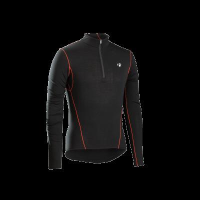 Koszulka termiczna z długim rękawem i suwakiem 1/4 Bontrager B3 czarna