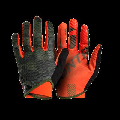 Rękawiczki Bontrager Rhythm kamuflaż/pomarańczowe