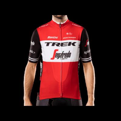 Koszulka Santini Trek-Segafredo Replica L czerwona/czarna
