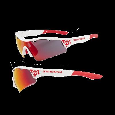 Okulary STINGRAY biało- czerwone